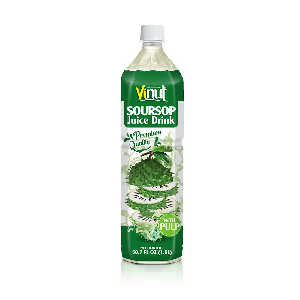 50.7 fl oz VINUT Premium Quality Soursop Juice Drink with Pulp