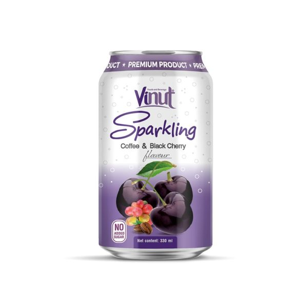 330ml VINUT Sparkling Coffee & Black Cherry No Added Sugar