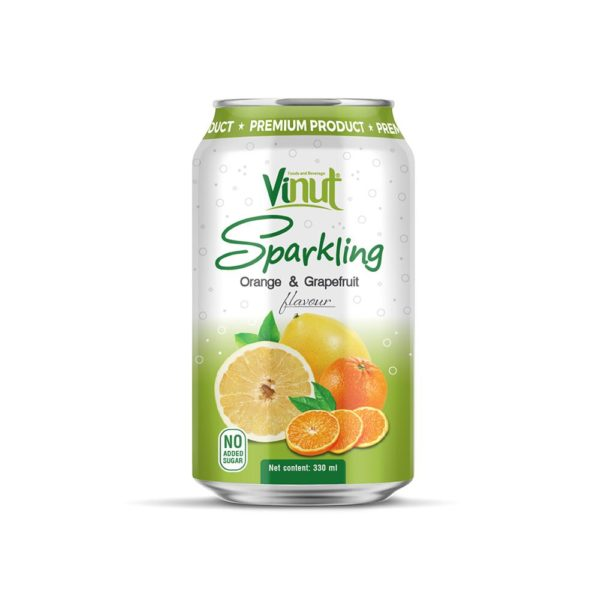 330ml VINUT Sparkling Orange & Grapefruit No Added Sugar